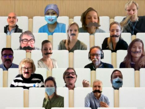 Anser groepsfoto voor Movember 2020